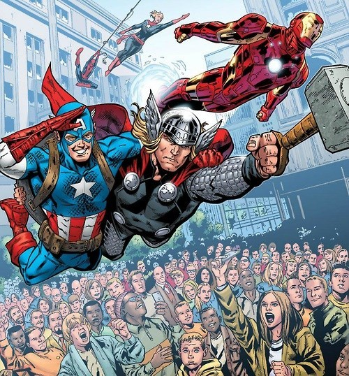 captain america Straight off the Page The Avengers - 8123159040