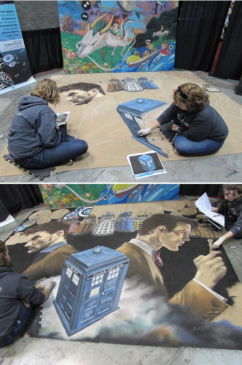 chalk doctor who conventions mural - 8123176704