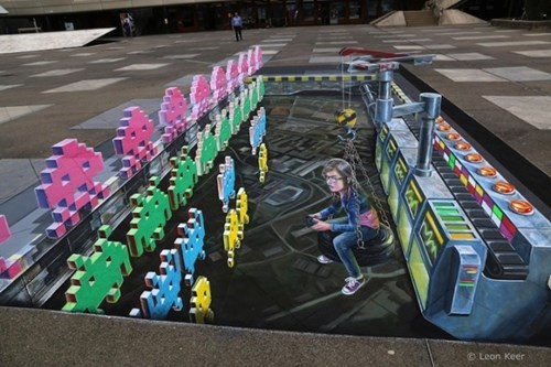 chalk art perspective Street Art g rated win