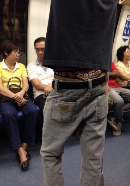 thong,poorly dressed,Subway