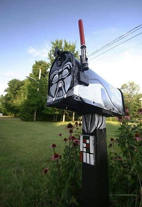 darth vader,star wars,mail box