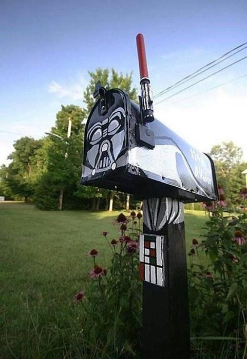 darth vader star wars mail box - 8123233280