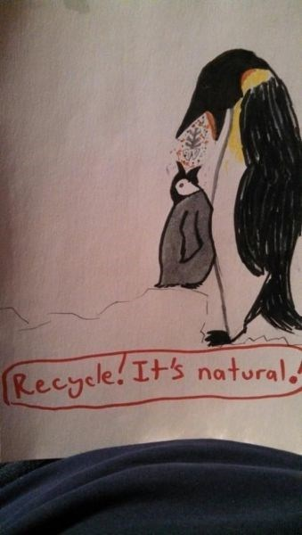 kids recycling penguins natural parenting