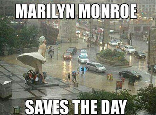 funny marilyn monroe umbrella statue - 8123328512
