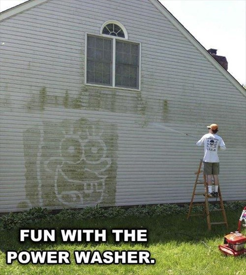 art power washer funny SpongeBob SquarePants - 8123332864