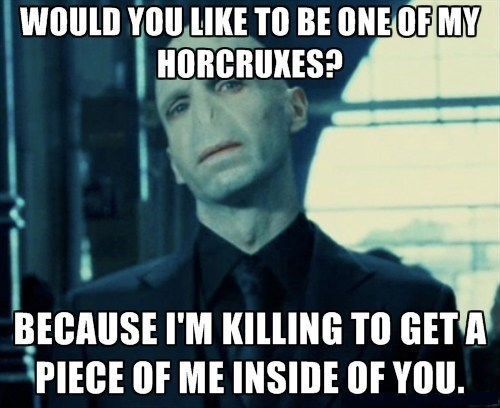 Harry Potter horcrux pick-up lines funny dating - 8123556608