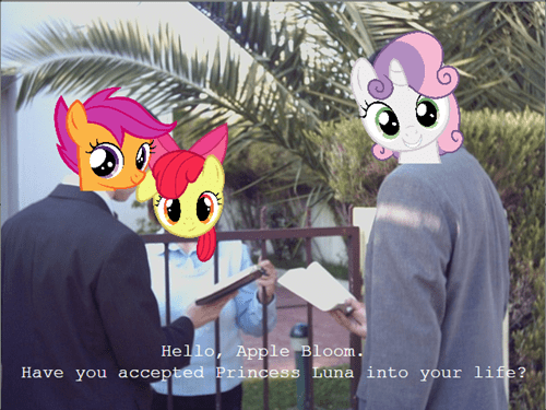 missionaries,princess luna,cutie mark crusaders