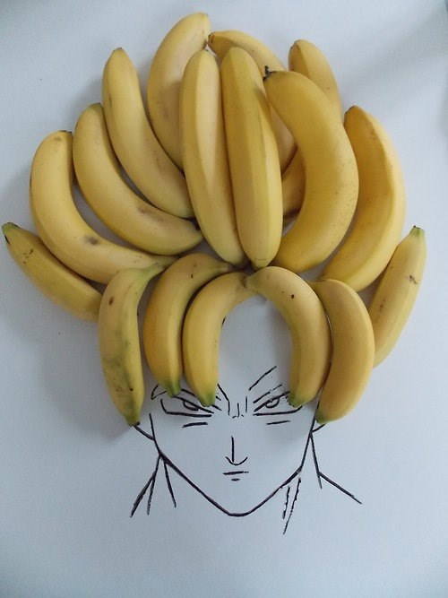 bananas dragonball z goku