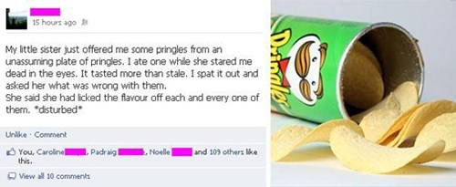 food pringles gross prank failbook g rated - 8124323072