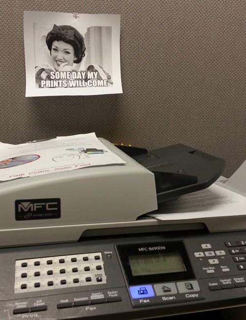 puns,monday thru friday,snow white,work,printer,g rated