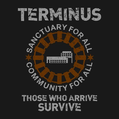 t shirts The Walking Dead terminus - 8124494592