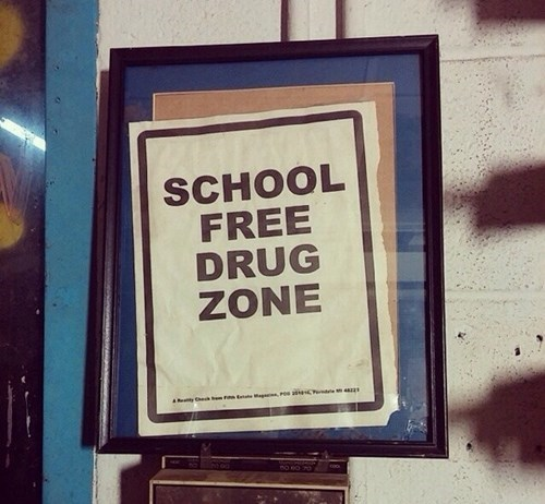 drugs,spelling,sign