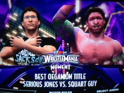 video games,WrestleMania,squart