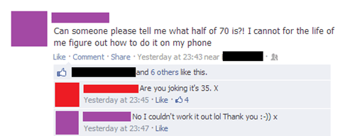 calculator facebook math school