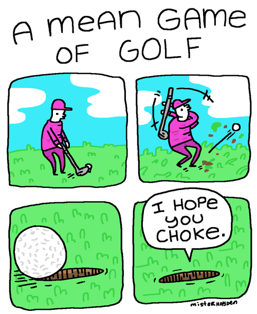 golf,mean,web comics