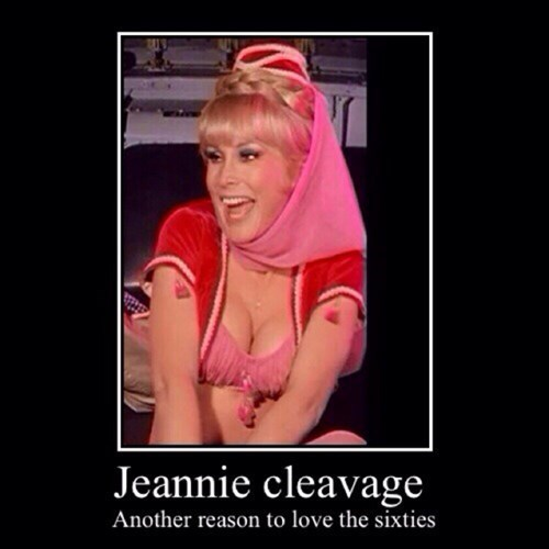 I Dream of Jeannie 60s TV bewbs funny - 8124711168