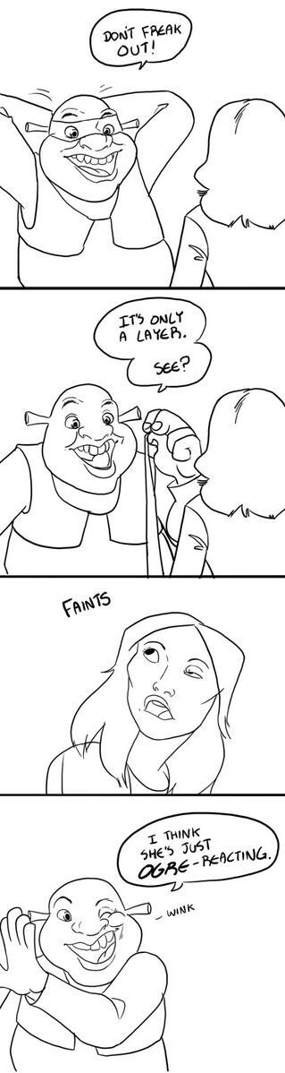 TMNT puns web comic shrek - 8124850944