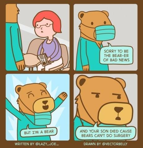 bears puns doctors web comics - 8125647104