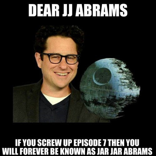 JJ Abrams,star wars,jar jar binks