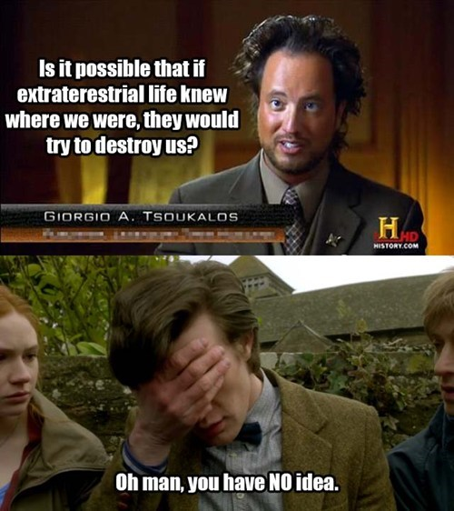 Aliens,face palm,11th Doctor