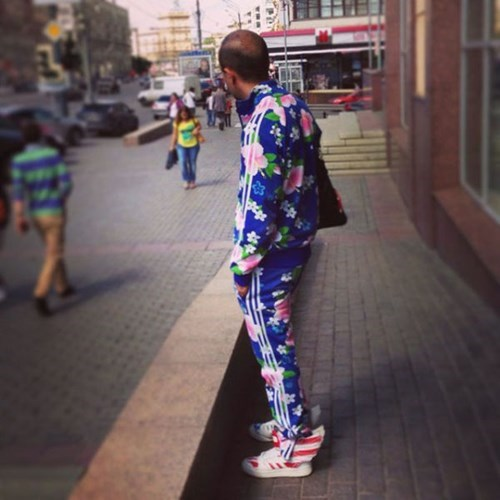 poorly dressed,tracksuit,floral