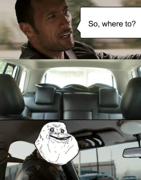 forever alone,Memes,the rock