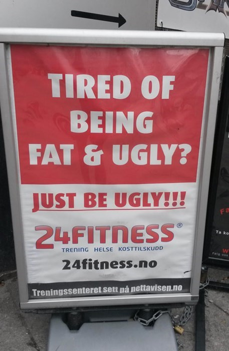 advertising fitness exercise fat and ugly gyms ugly - 8125956608