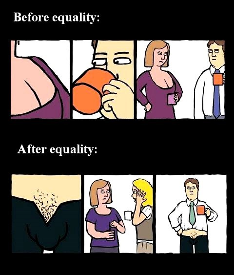 cleavage comics equality webcomics - 8126011136