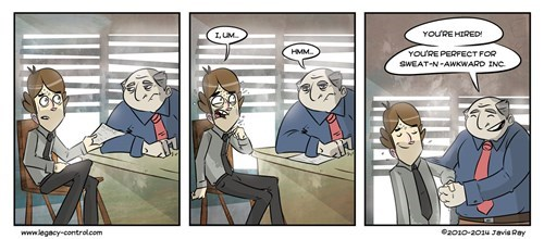 jobs Awkward interviews web comics