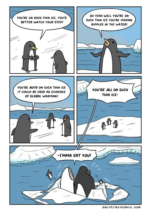 penguins,global warming,puns,ice,web comics