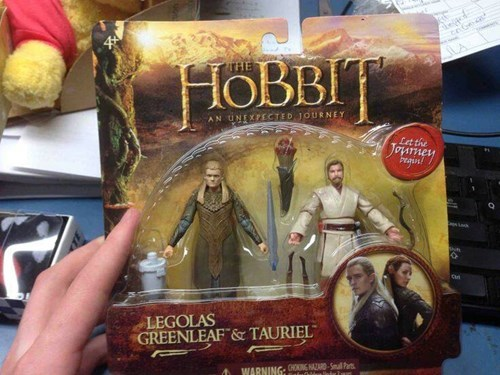 action figures star wars Lord of the Rings nerdgasm The Hobbit knockoff fail nation g rated - 8126192384