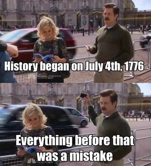 parks and recreation,ron swanson,history,1776
