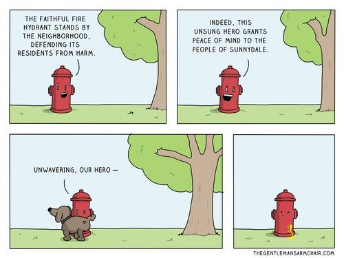 dogs fire hydrant web comics - 8126996224