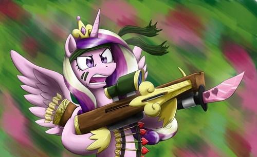 Fan Art princess cadence commando - 8127319296