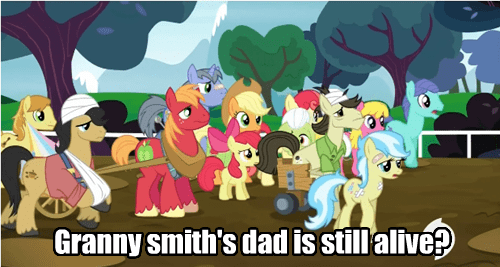 background pony,granny smith,immortal