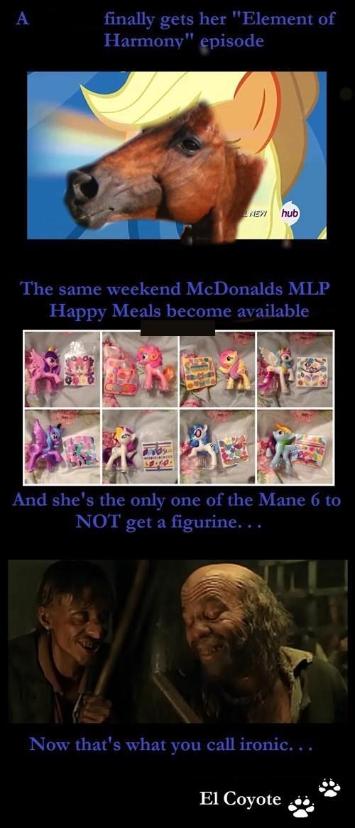 sans one,mane 6,McDonald's,MLP