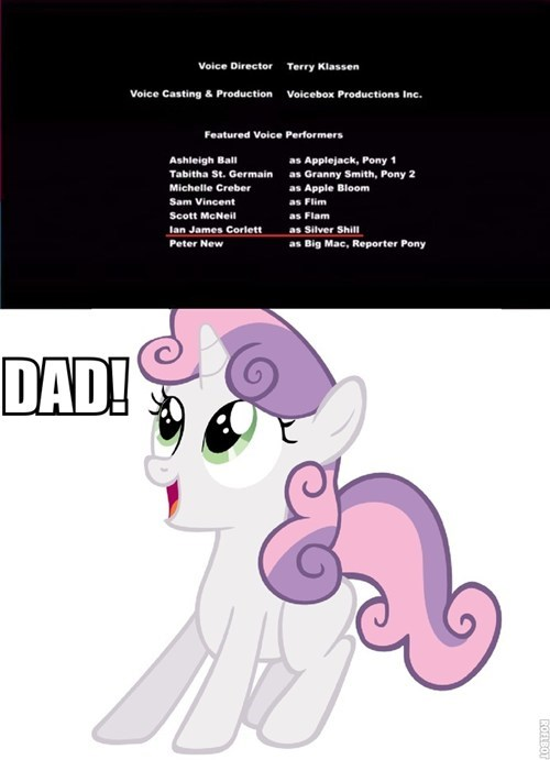 nepotism Sweetie Belle voice actor Father - 8127770624