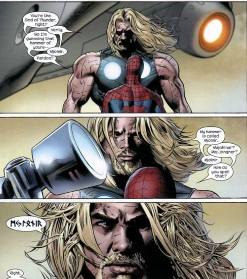 Thor off the page mjolnir - 8128460032