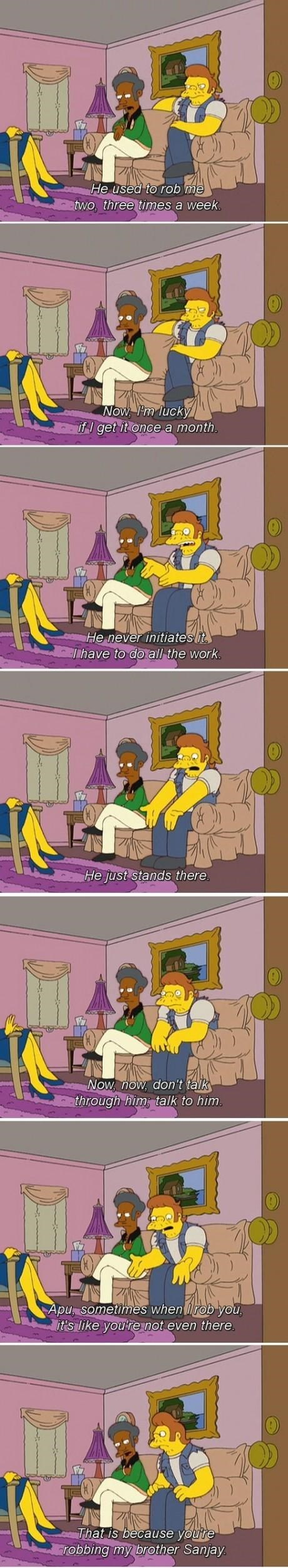 apu therapy the simpsons funny - 8129159936