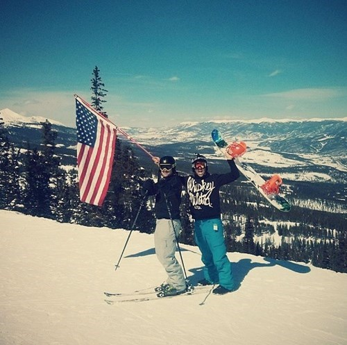 old glory,skiing