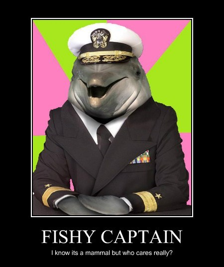 FISHY CAPTAIN I know its a mammal but who cares really?
