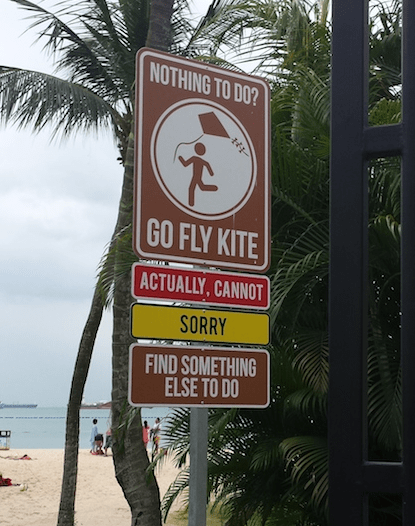 signs go fly a kite beaches - 8129765120