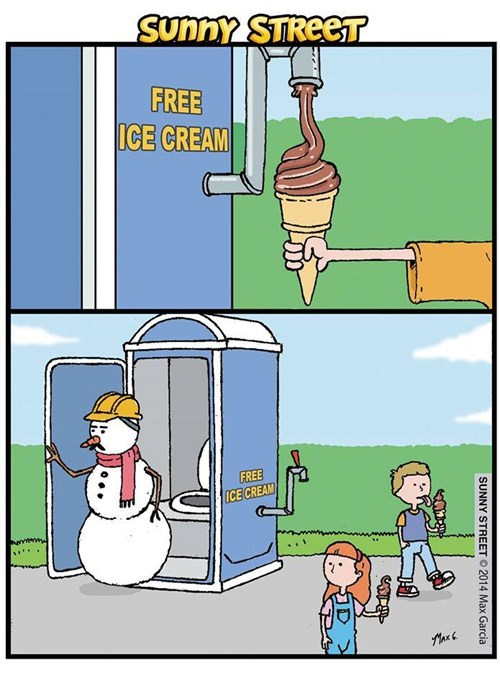 snowmen,ice cream,web comics