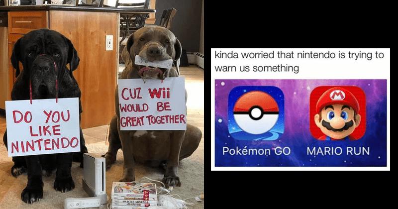 Funny nintendo memes.