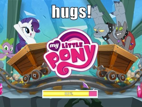hugs,rarity,diamond dogs