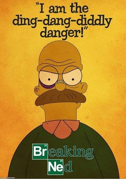 breaking bad ned flanders the simpsons - 8130254848