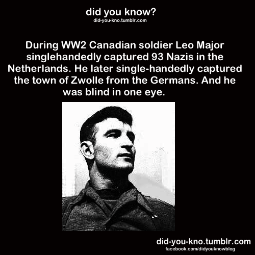 Canada did you know leo major world war II - 8131029760