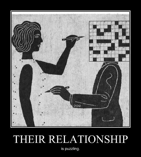 wtf crossword connect the dots relationships puzzles funny