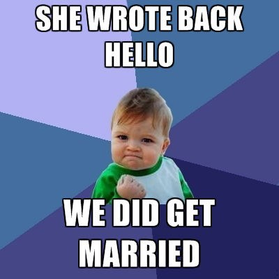 hello marriage success kid funny - 8131160320