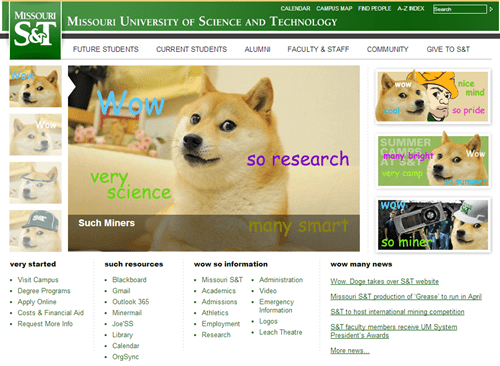 doge missouri university of science and technology april fools - 8131188992
